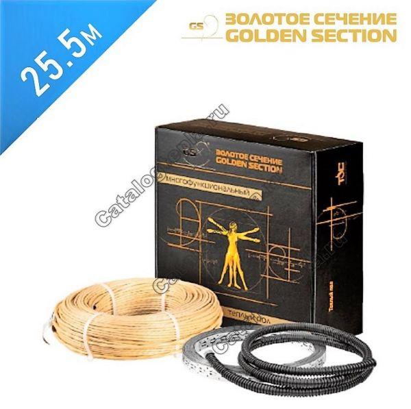 Нагревательный кабель Золотое сечение GS-400  - 25,5 м.