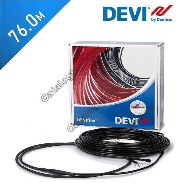 Нагревательный кабель Devisafe 20 T  - 76,0 м.