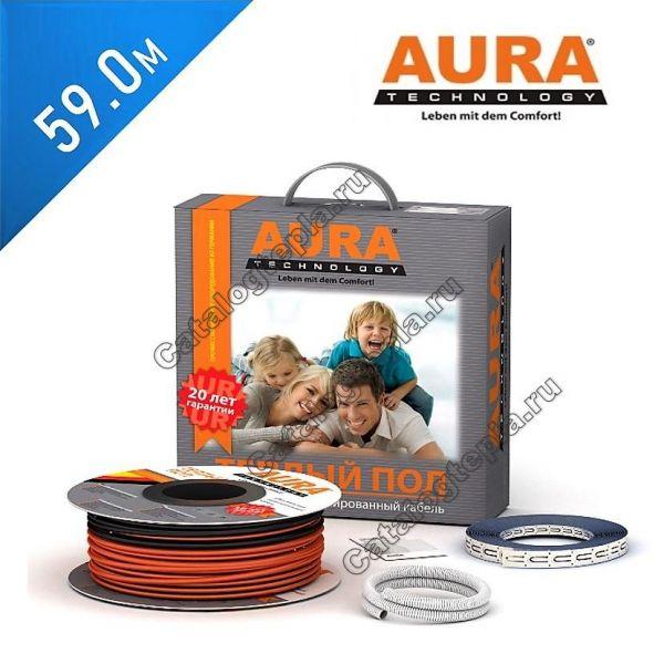 Нагревательный кабель AURA KТА 1000 - 59 м.