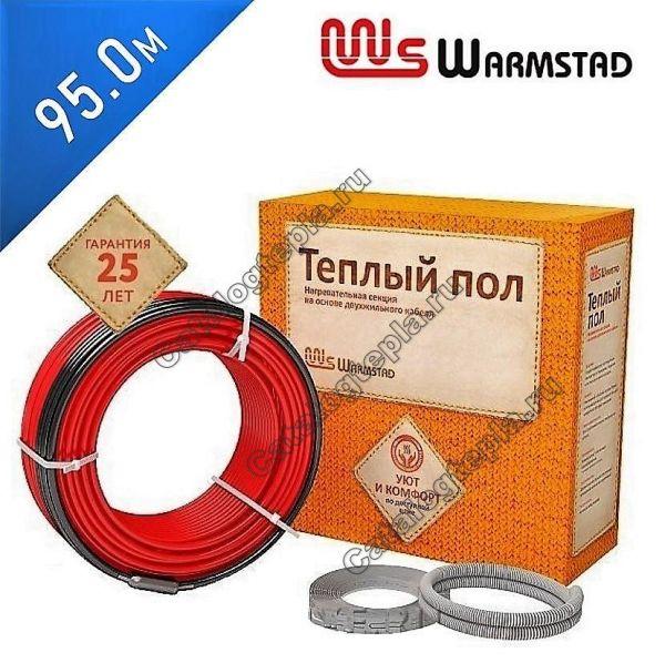 Нагревательный кабель Warmstad WSS- 95.0 м.
