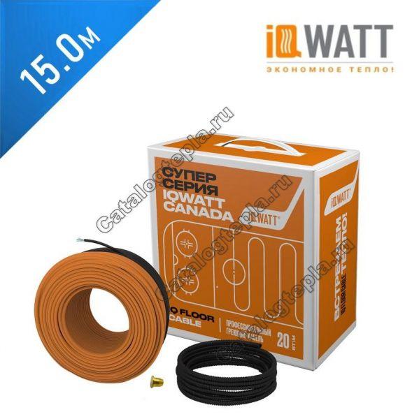 Нагревательный кабель IQ FLOOR CABLE - 15.0 м.