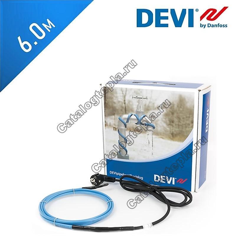 Нагревательный кабель DEVIpipeheat10 (DPH-10) - 6,0 м.