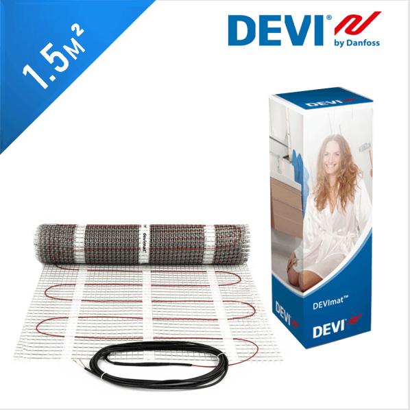 Нагревательный мат DEVImat 150T (DTIF-150) - 1,5 кв.м.