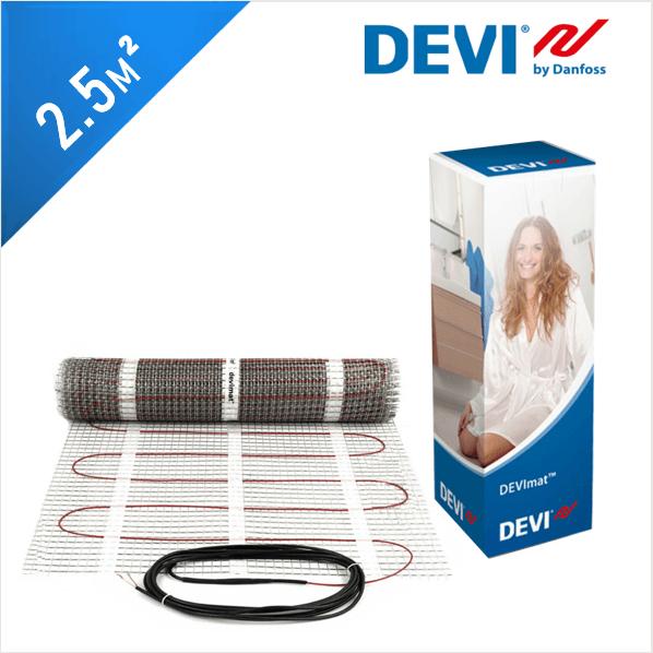 Нагревательный мат DEVImat 150T (DTIF-150) - 2,5 кв.м.