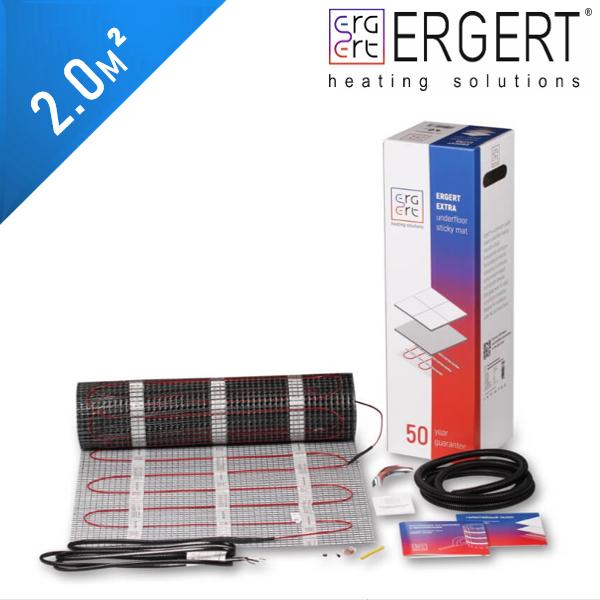 Нагревательный мат ERGERT Extra 200 (ETME 200) - 2,0 кв.м.