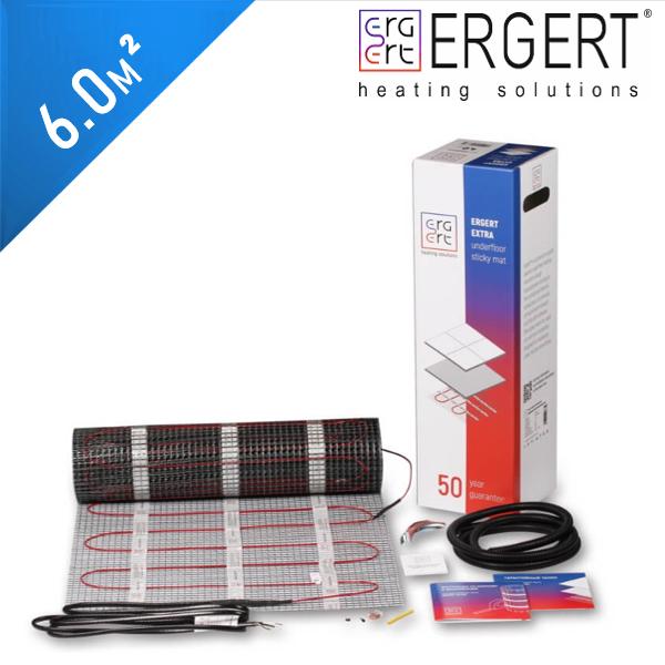 Нагревательный мат ERGERT Extra 200 (ETME 200) - 6,0 кв.м.