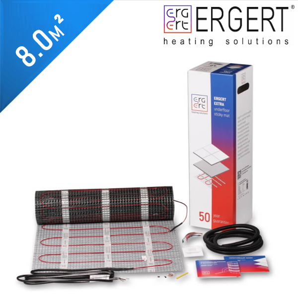 Нагревательный мат ERGERT Extra 200 (ETME 200) - 8,0 кв.м.