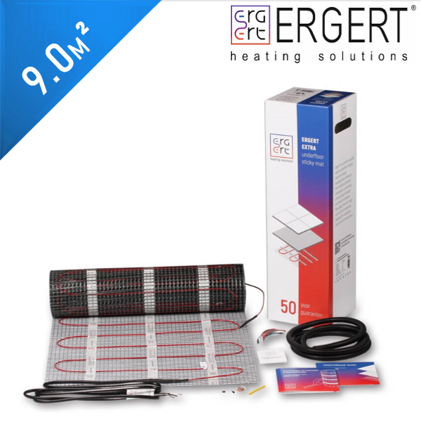 Нагревательный мат ERGERT Extra 200 (ETME 200) - 9,0 кв.м.