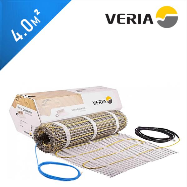 Нагревательный мат VERIA Quickmat 150 1C - 4,0 кв.м.
