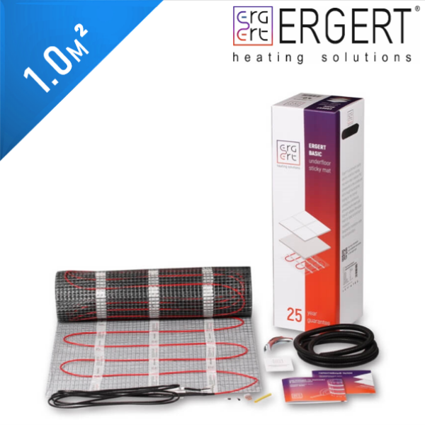 Нагревательный мат ERGERT Basic 150 (ETMB 150) - 1,0 кв.м.
