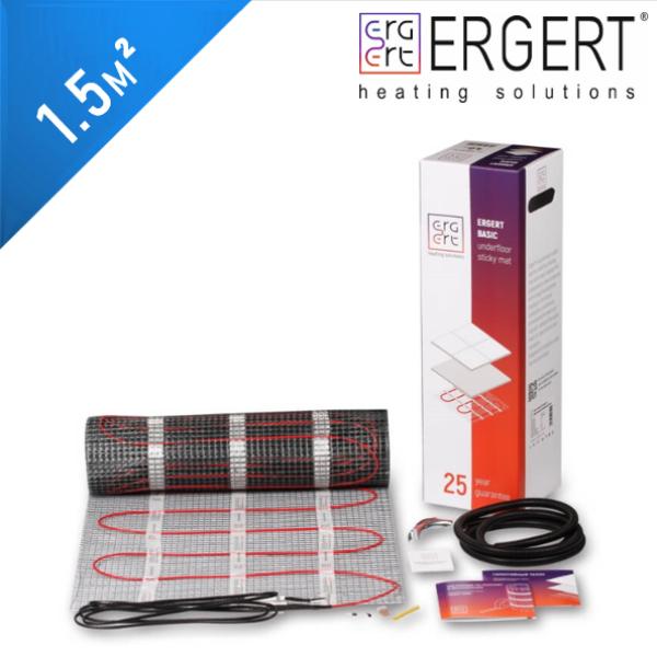 Нагревательный мат ERGERT Basic 200 (ETMB 200) - 1,5 кв.м.
