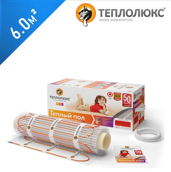 Нагревательный мат ТЕПЛОЛЮКС Tropix MHH 160  - 6,0 кв.м.