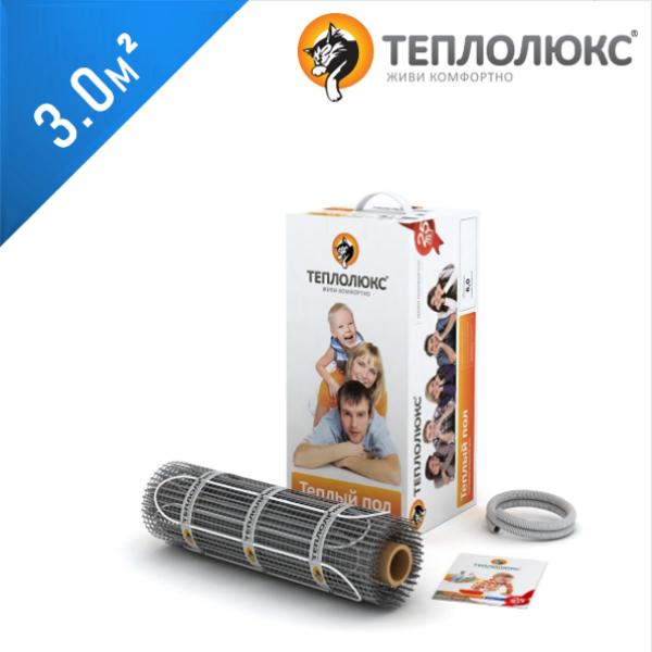 Нагревательный мат ТЕПЛОЛЮКС Tropix MHH 130  - 3,0 кв.м.