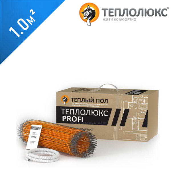 Нагревательный мат ТЕПЛОЛЮКС Profimat 160  - 1,0 кв.м.