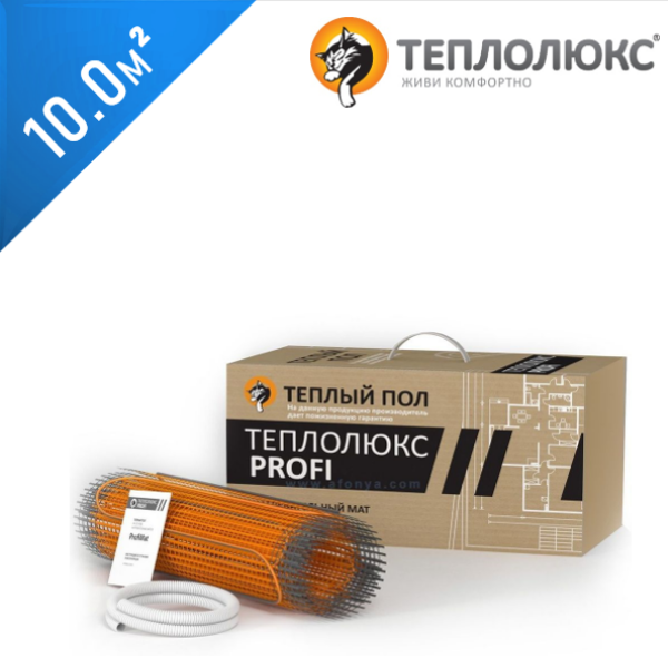 Нагревательный мат ТЕПЛОЛЮКС Profimat 160  - 10,0 кв.м.