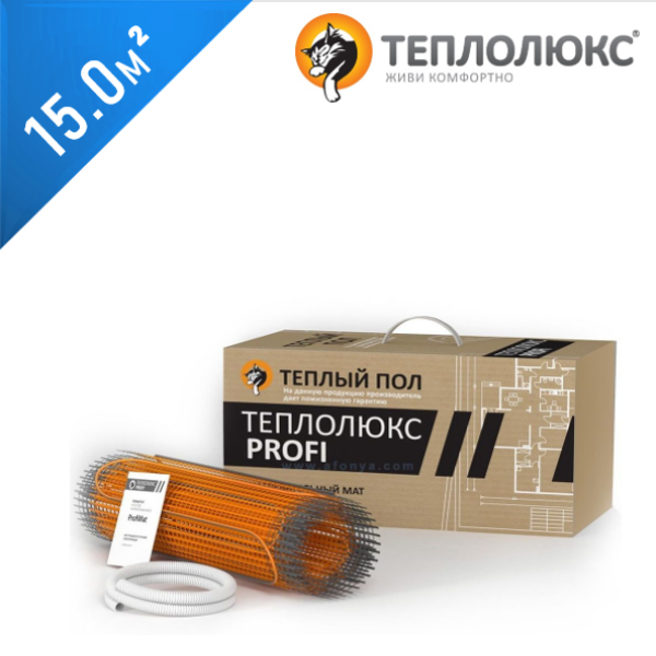 Нагревательный мат ТЕПЛОЛЮКС Profimat 160  - 15,0 кв.м.