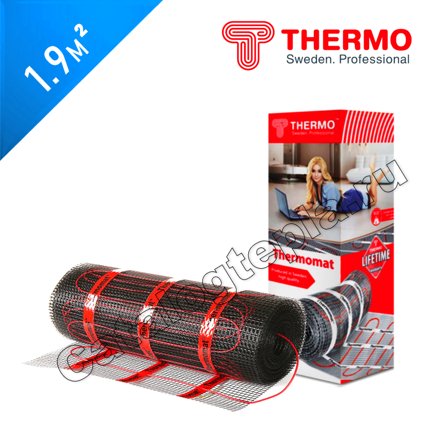 Нагревательный мат Thermomat TVK 210  - 1,9 кв.м.