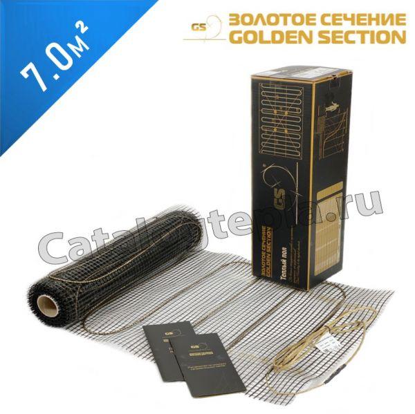 Нагревательный мат Золотое Сечение GS-160  - 7,0 кв.м.