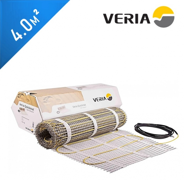 Нагревательный мат VERIA Quickmat 150 2C - 4,0 кв.м.