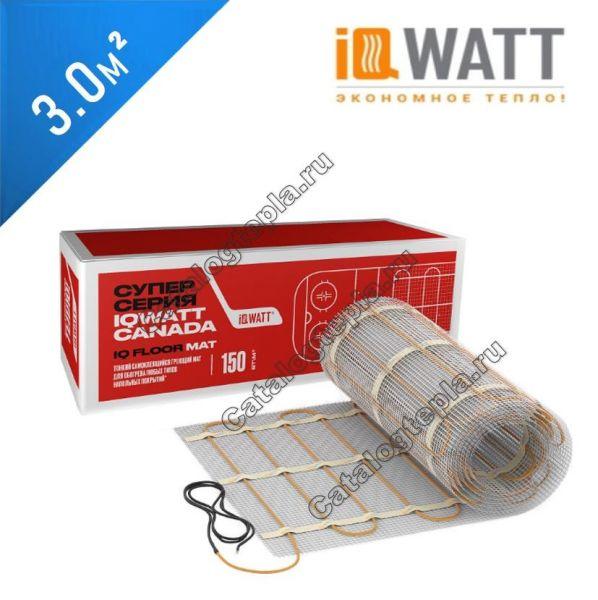 Нагревательный мат IQWATT FLOOR MAT – 3,0 кв.м.