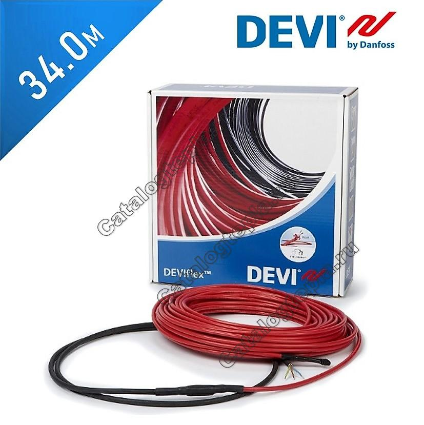 Нагревательный кабель Deviflex 18 T (DTIP-18) - 34,0 м.