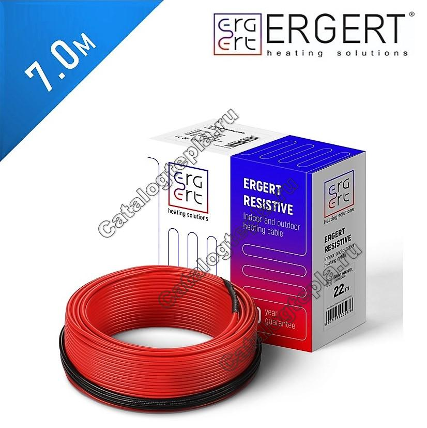 Нагревательный кабель Ergert ETRS 18  - 7,0 м.